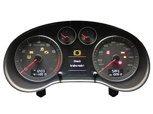 "Audi A3 Facelift 2009+ ""White"" Instrument Cluster Cloning - Service Only"